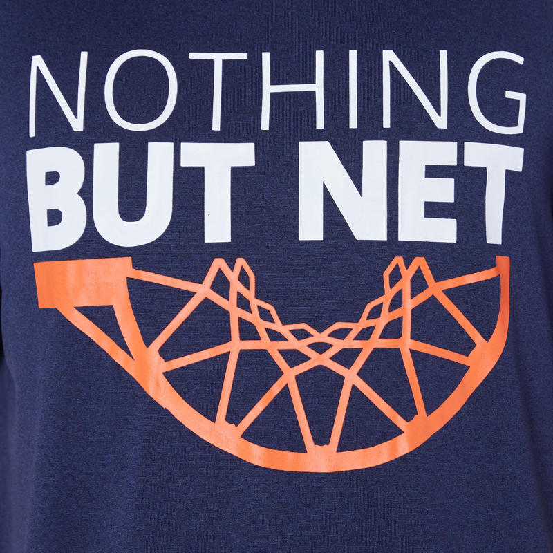 Men's Basketball T-Shirt / Jersey TS500 - Dark Blue Nothing But Net