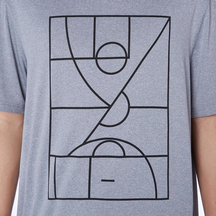 Basketballtrikot TS500 Herren hellgrau Playground