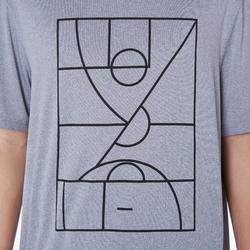 Camiseta de baloncesto TS500 Hombre Gris Claro Playground