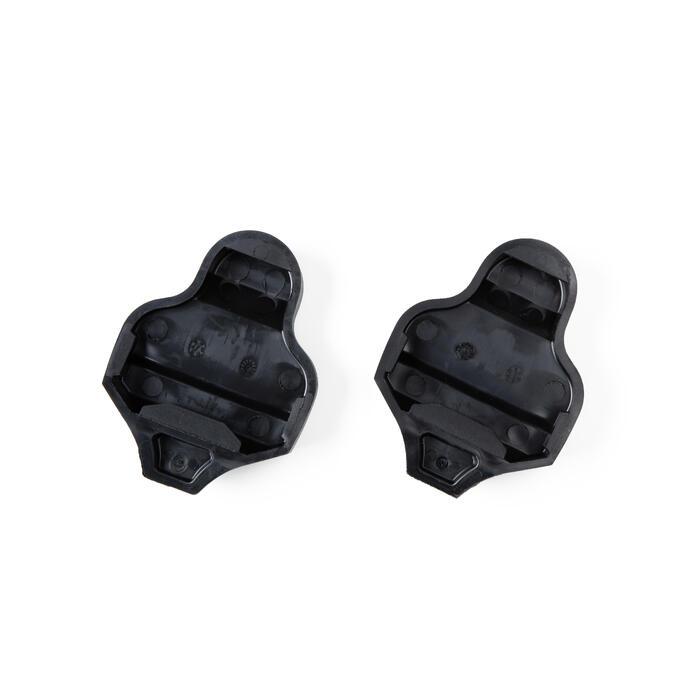 Pedalplattenschutz und B'TWIN-Cleats, beide kompatibel mit Look Kéo