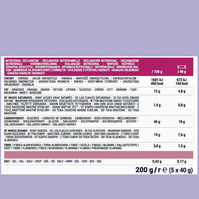 Barrita Proteínas Triatlón Aptonia Aftter Sport Vegana Frutos Rojos 5 X 40 G