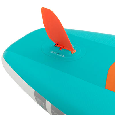 BEGINNER INFLATABLE TOURING STAND-UP PADDLE BOARD 10 FEET Green
