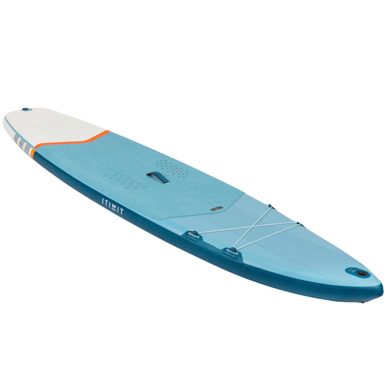Inflatable Touring Stand-Up Paddle Board 11' - Petrol Blue
