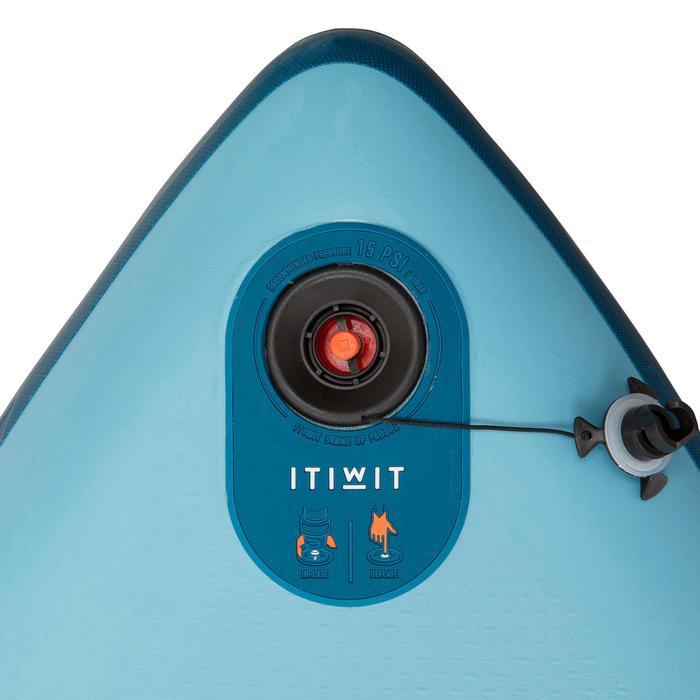充氣式初階旅行立式划槳板11'-藍色