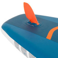 BEGINNER INFLATABLE TOURING STAND-UP PADDLE BOARD 11 FEET BLUE