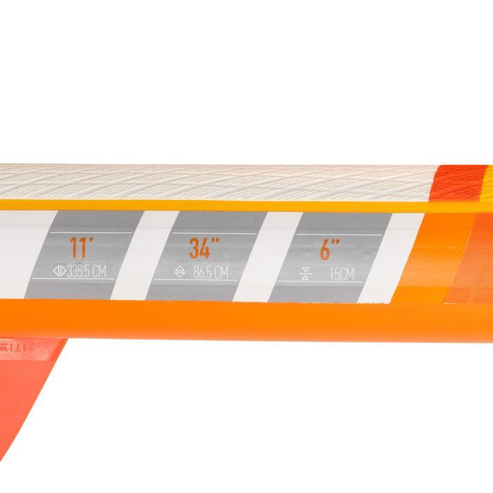 SUP-Board Stand Up Paddle aufblasbar Touring Einsteiger 11' gelb