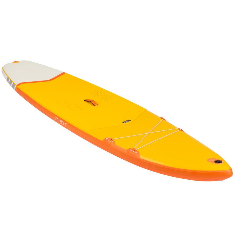 กระดานยืนพายทางไกลแบบสูบลมสำหรับมือใหม่ขนาด 11 ฟุต (สีเหลือง)
