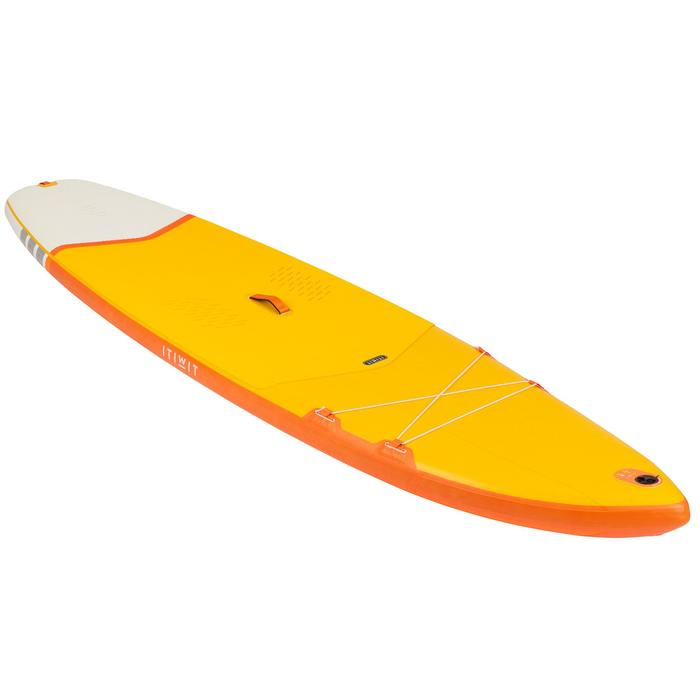 STAND UP PADDLE GONFLABLE DE RANDONNEE DEBUTANT 11 PIEDS JAUNE