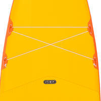 BEGINNER'S INFLATABLE TOURING STAND-UP PADDLEBOARD 11 FEET - YELLOW