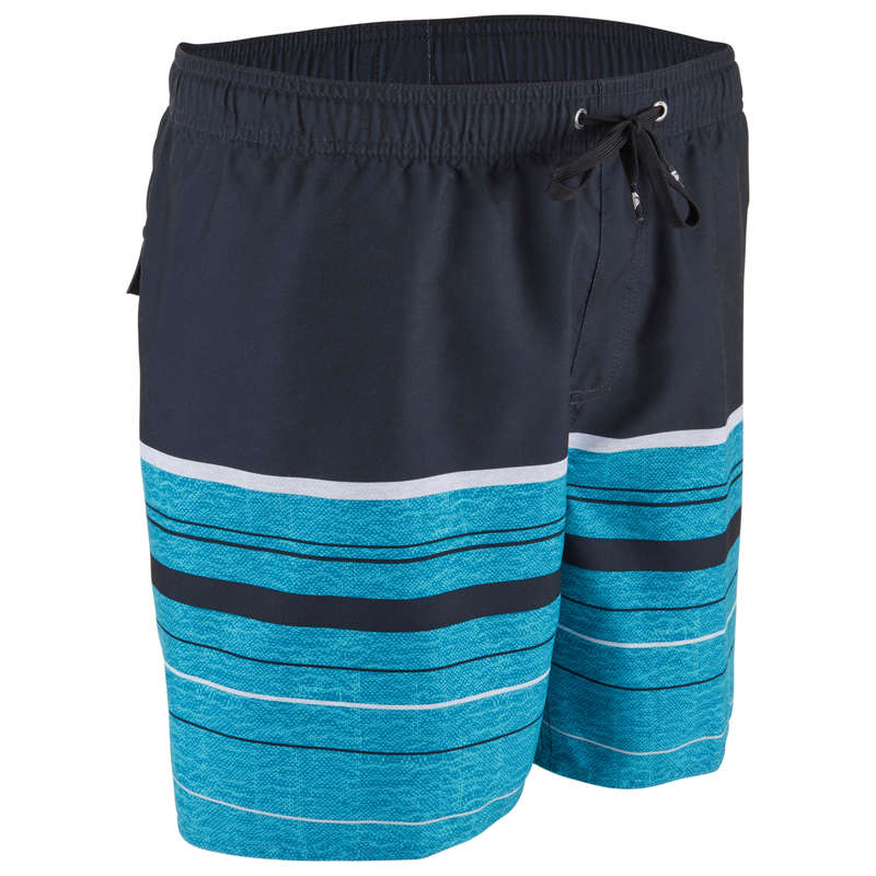 MEN'S BEGINNER BOARDSHORTS Swimming - BS QS AQUASTRIPE OP DEV Black QUIKSILVER - Swimwear