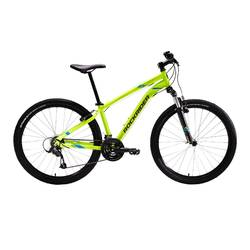 Mountainbike ST 100 3x7 speed microshift/shimano geel