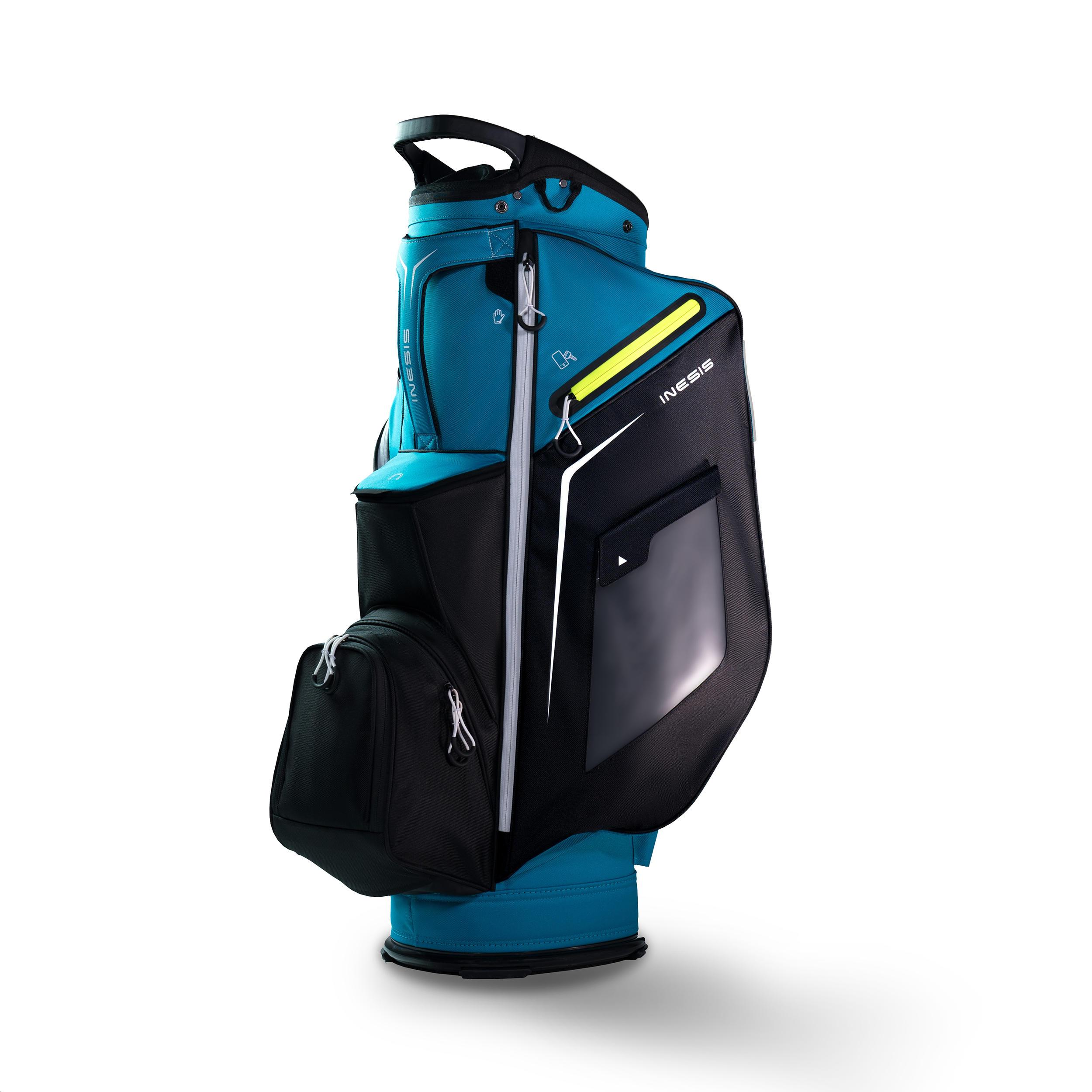Inesis Cartbag golf turquoise kopen