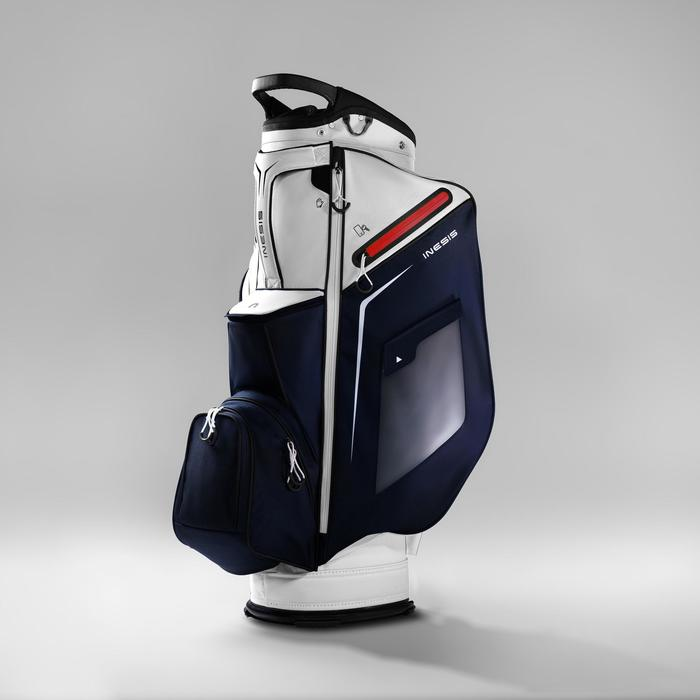 Cartbag voor golf marineblauw/wit