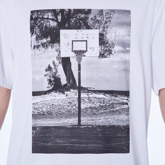 Camiseta de baloncesto TS500 Hombre Blanco Photo