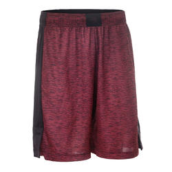 SH500 Basketball Shorts for Intermediate Players - Burgundy/Black