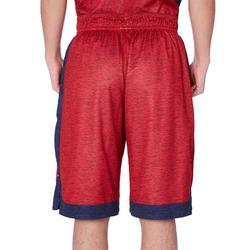 中階雙面籃球短褲-軍藍色/紅色