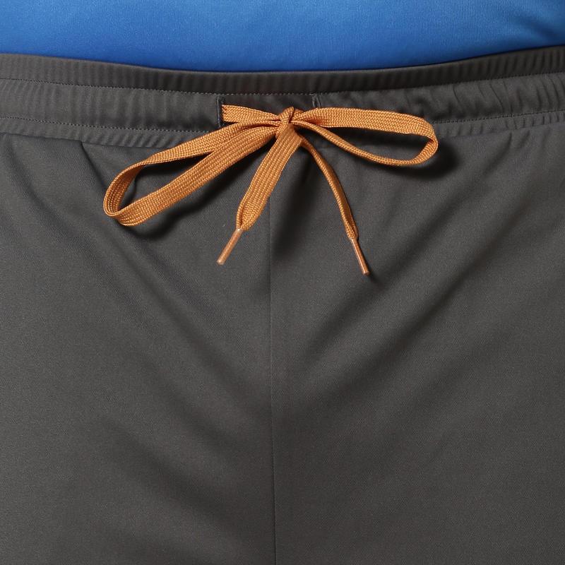 Men's Slim-Fit Stretch cricket trackpants TPR 500 grey