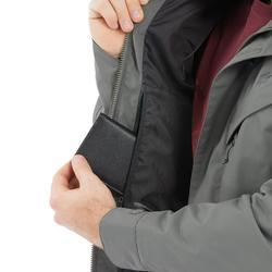 男款鄉村健行防水外套NH500 Protect-卡其色
