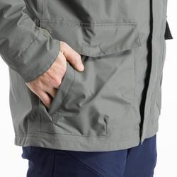 Regenjacke NH500 Protect Herren kaki für Naturwanderungen