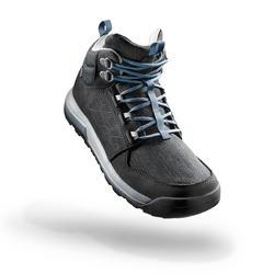 Chaussures de randonnée nature NH500 mid Imperméable noir femme