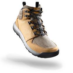 男款中筒防水鄉村健行鞋NH500-棕色