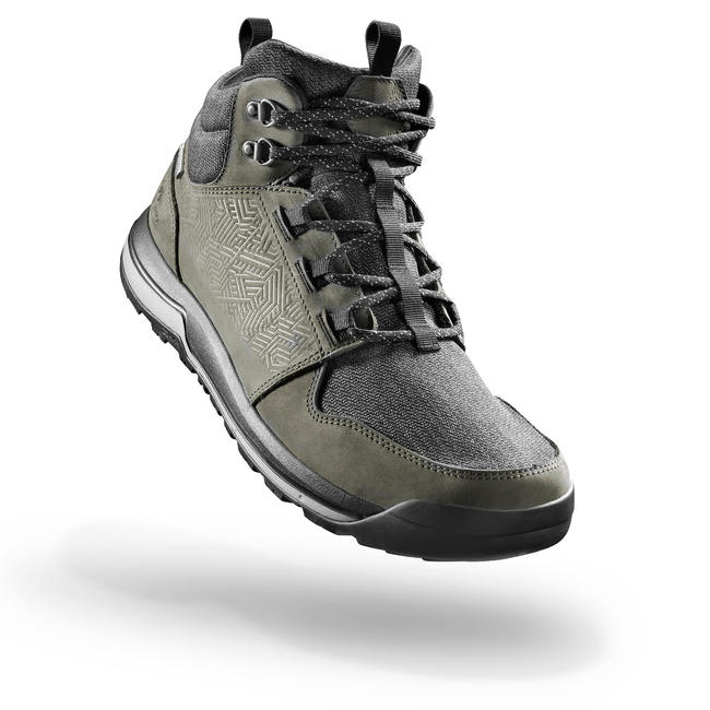 Men's Hiking Shoes WATERPROOF (Mid Ankle) NH500 - Khaki
