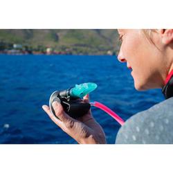 Mundstück mono-density für Atemregler Damen/Kinder blau
