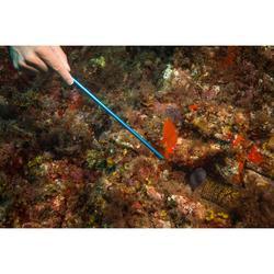 Aanwijsstok in rvs voor duikers, met ring, polslus en karabijnhaak