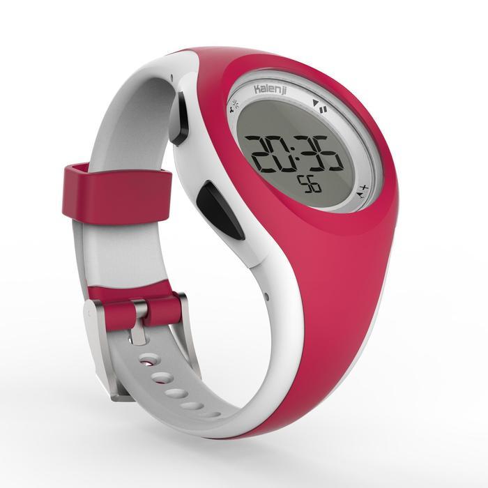Montre chronomètre de course à pied W200 S rouge et blanche