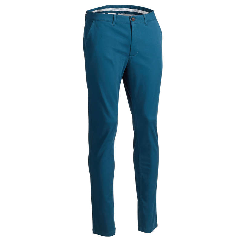 MENS MILD WEATHER GOLF CLOTHING Golf - Men's Trousers - Petrol INESIS - Golf Clothing