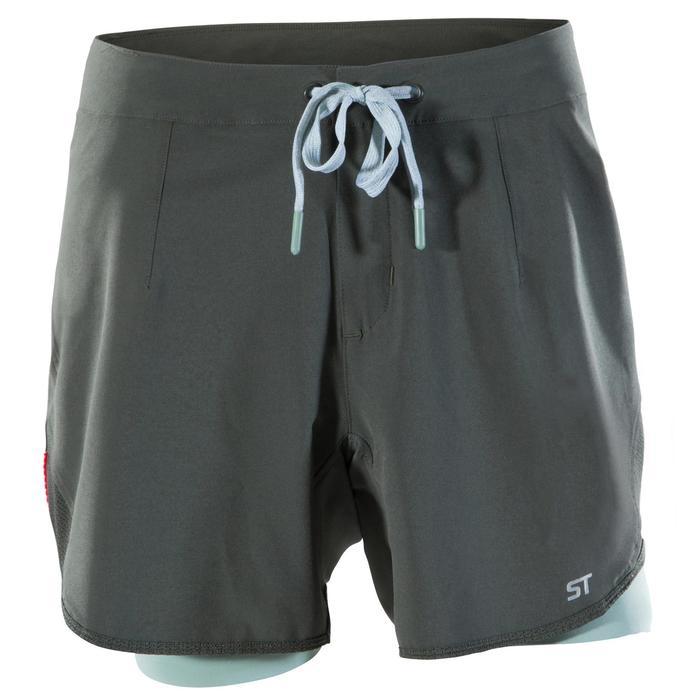 Pantalón corto MTB ST 500 mujer Caqui