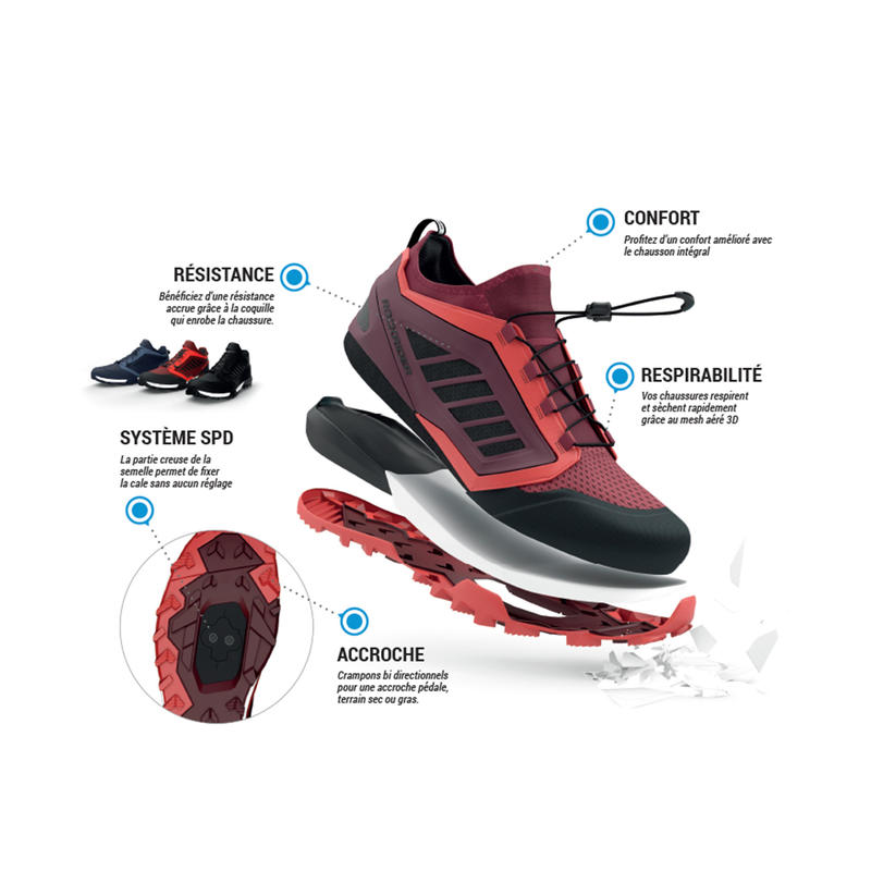 ST 500 Mountain Bike Shoes - Red