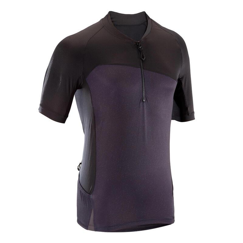 Short-Sleeved Mountain Biking Jersey ST 500 - Black