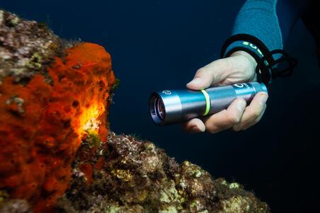 SCD 100 lumen spot diving torch/lamp, 3000 lux, watertight to 100m