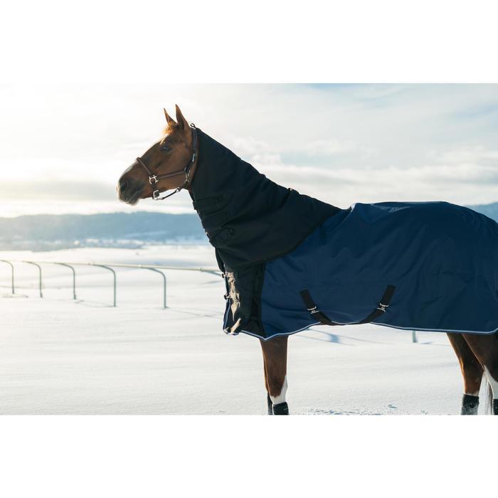 Waterdicht halsstuk Allweather Light ruitersport paard zwart