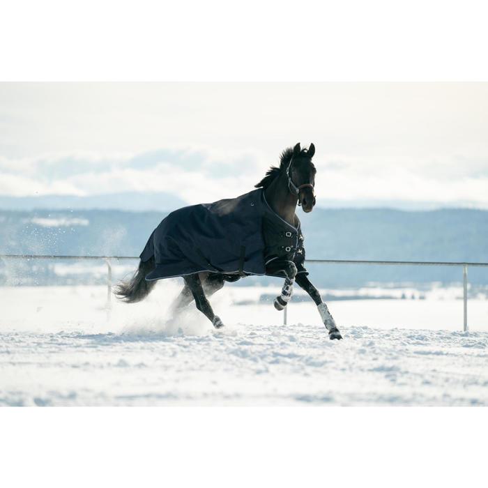 Couverture imperméable équitation cheval et poney ALLWEATHER 300 1000D marine