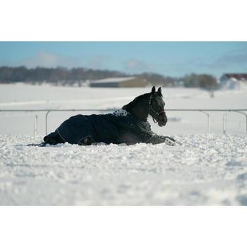 Manta impermeable equitación caballo y poni ALLWEATHER 300 1000D Azul Marino