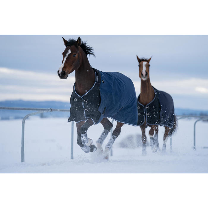 Winter-Regendecke Allweather 300g 1000D wasserdicht Pferd/Pony blau