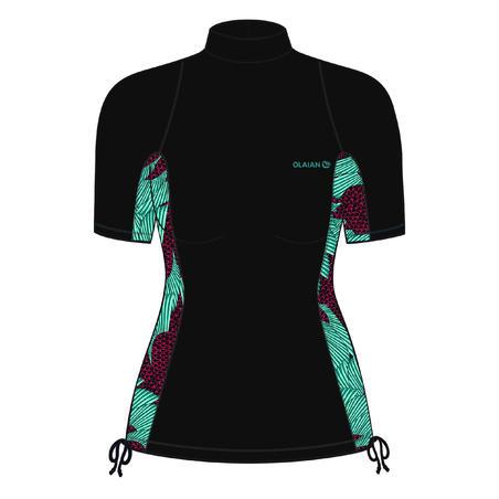 T-shirt de surf anti-UV à manches courtes500– Femmes