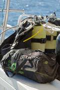 TAŠKY PRO POTÁPĚČE Potápění a šnorchlování - VAK SE SÍŤOVINOU 50 L SUBEA - Potápění