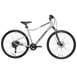 700C Riverside 900 Hybrid Bike Aluminium - Light grey