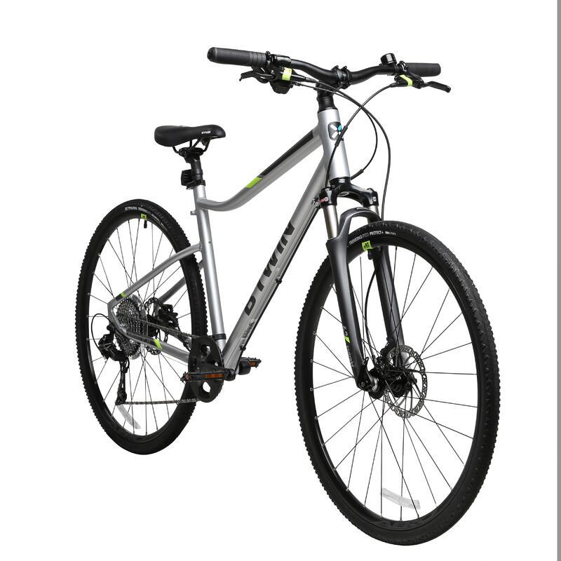 Riverside 900 Hybrid Bike 28in 10sp - Light Grey