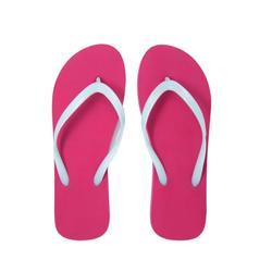 Chanclas Playa Surf Olaian Mujer Dedo Rosa Blanco Flypflop