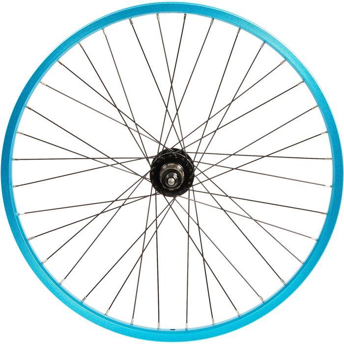 Subsin-achterwiel voor kinderfiets van 24 inch met cassette blauw