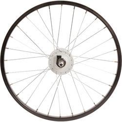 Rueda bicicleta júnior 20 pulgadas delantera dinamo negro