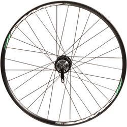 Rueda bicicleta júnior 24 pulgadas trasera doble pared disco cassette negro