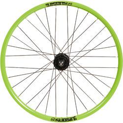 Rueda bicicleta júnior Subsin 24 pulgadas delantera verde