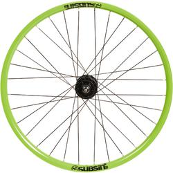 Subsin-voorwiel voor kinderfiets van 24 inch groen