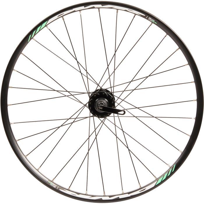 Roue vélo enfant 24 pouces avant double paroi disque noir