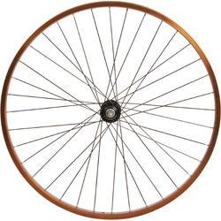 Roue vélo enfant CRUISER 26 pouces avant simple paroi marron
